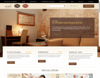 Website development for «St. Peter's Boutique Hotel», «Forums», «Laipu»